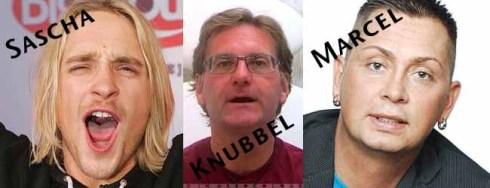 Sascha, Knubbel und Marcel