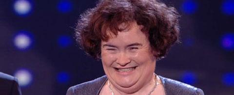 Erleichtert nach ihrem Auftritt: Susan Boyle
