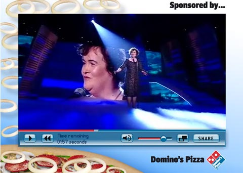 Sollte keine Pizza essen: Britain's Got Talent-Star Susan Boyle, Screenshot: talent.itv.com (c) ITV