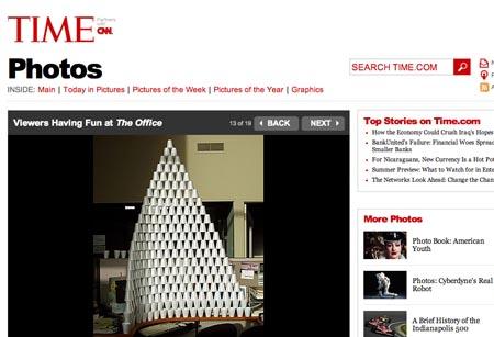 Spaß im Büro, Screenshot: times.com