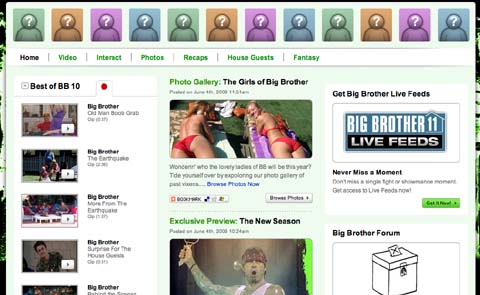Big Brother 11 Website von CBS