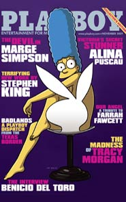 Marge Simpson auf dem Playboy-Cover (c)  AP/Playboy